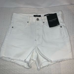 NWT Banana Republic High Rise White Denim Short 27